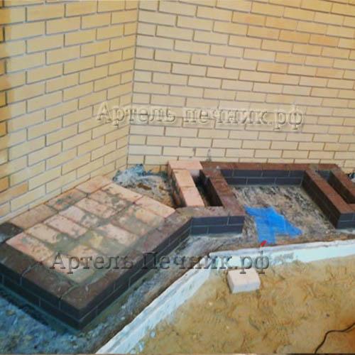 мангал камин из кирпича - этапы строительства