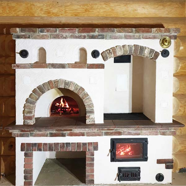 отопительно-варочная печь на дровах для дома